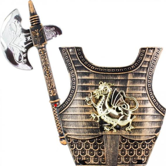 Kit Cavaleiros E Guerreiros Vikings Com Escudo Multikids