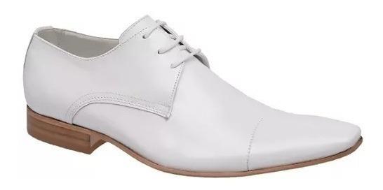 Sapato Social Branco P/ Médicos Solado Couro Bigioni + Brind
