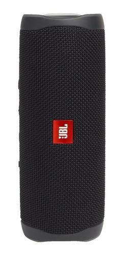 Alto-falante JBL Flip 5 portátil com bluetooth black matte 110V/220V