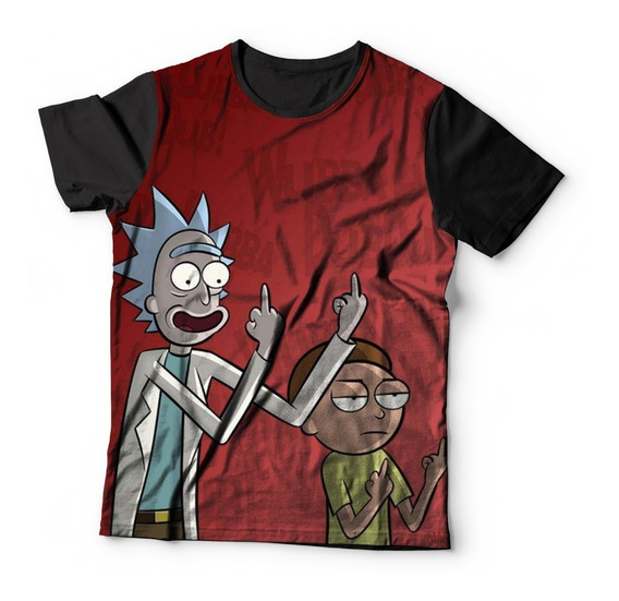 Camiseta Baby Look Full Print Rick And Morthy Serie Ref:42