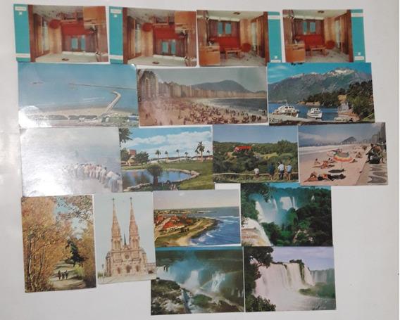 Lote De Postales Antiguas X 17uni. Río De Janeiro/ Cataratas