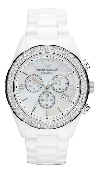 Relógio Empório Armani Ar1456 Cerâmica Luxo! Branca Feminino
