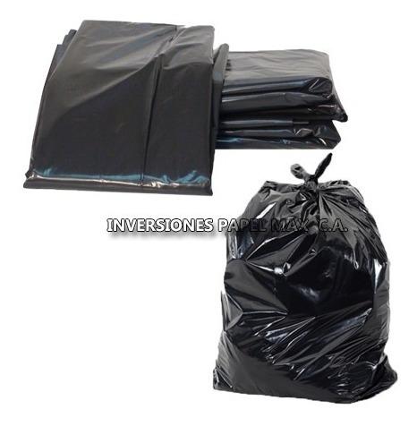 Bolsa De Basura Plásticas Negra De  40kg Calibre 14