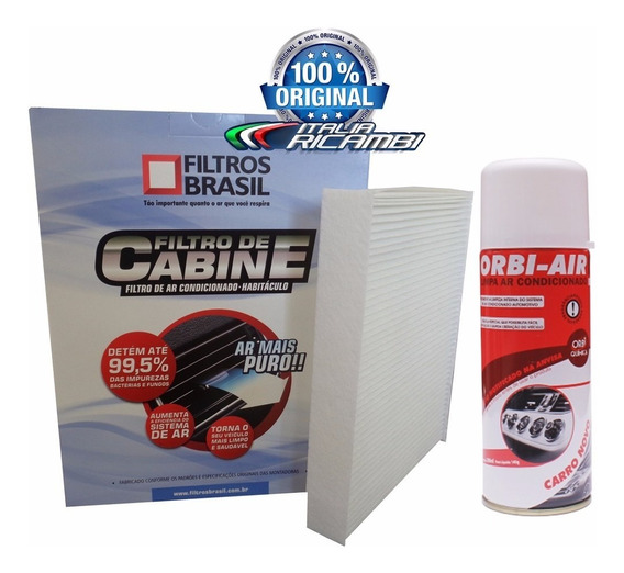 Filtro Cabine Ar Condicionado + Higienizador - Fiesta Rocam