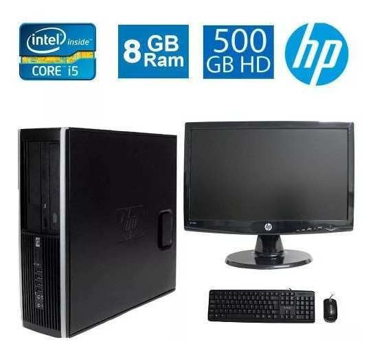 Cpu Desktop Hp Elite 8100 I5 8gb 500gb Monitor 18 Polegadas