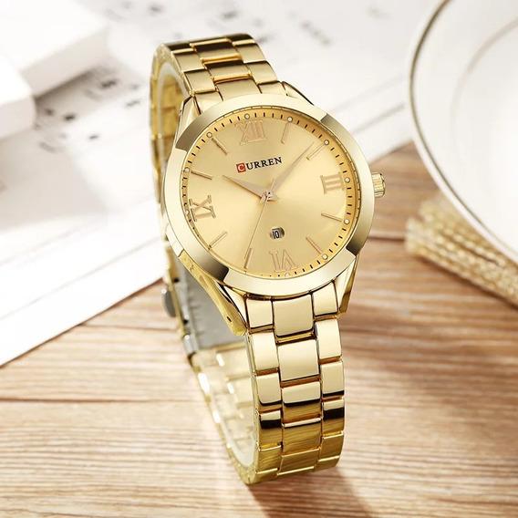 Relógio Curren Dourado Desconto 90% Off