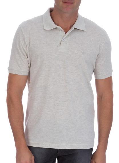 Camisa Polo Colombo Masculina Cinza Lisa 40765