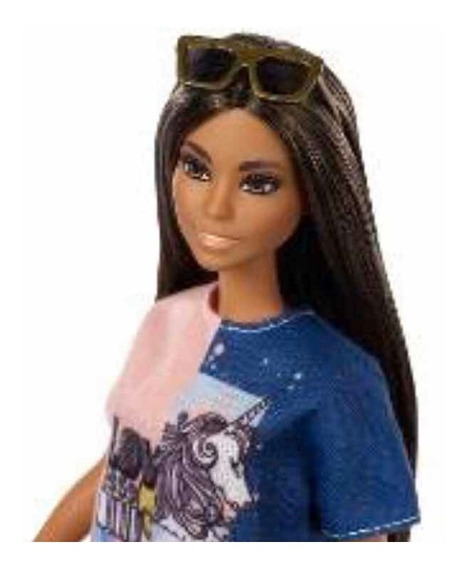 Boneca Barbie Fashionistas 103 Black Hair - Nova