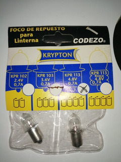 2focos Repuesto Para Linterna Krp 102, 103, 113. Voltajes
