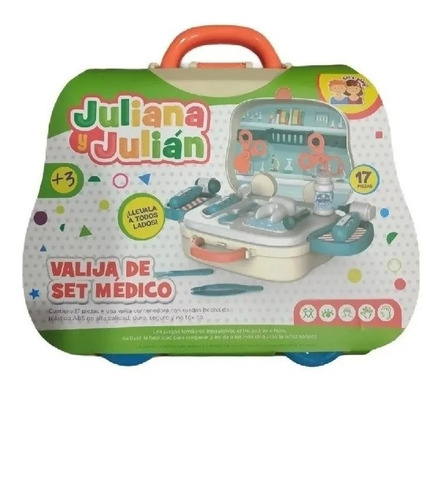 Valija Set Medico Doctor Accesorios Juliana Y Julián Full