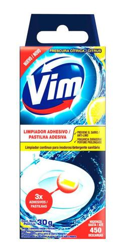 Vim Limpiador Adhesivo Para Inodoro Aroma Citrus 30 Gr