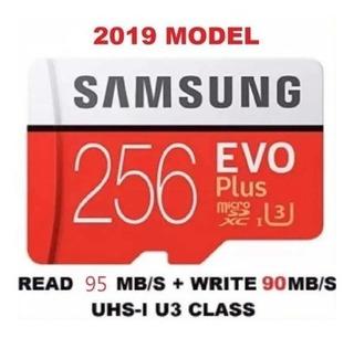 Cartão Microsd De Memória Samsung 256gbevo Plus C/ Adaptador