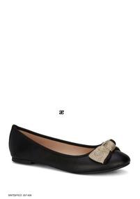 Flat Ballerina Andrea Color Negro Mod 257-4288