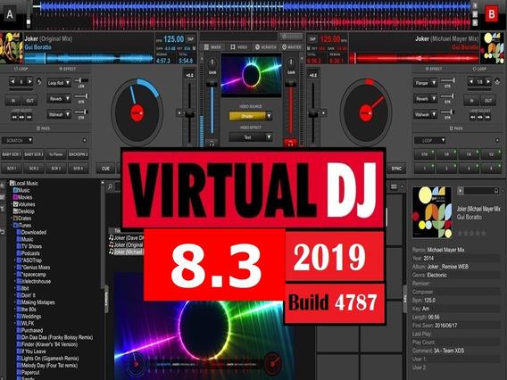 Virtual Dj Pro 8.3 B4787 2019 Tira Logo + Skins + Plugins