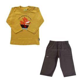 02.269 - Conjunto De Camiseta E Calça Moletom Grosso Tam. P