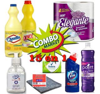 Combo Desinfectante 15 En 1 (kit Hogar) En Casa Combo Market