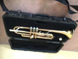 Trompeta Usada, Dorada, Marca Bach