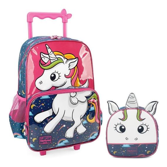 Kit Mochilete Infantil Feminina Unicornio Up4you 33064