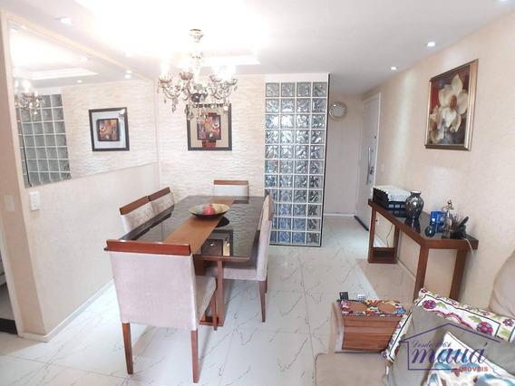 Apartamento Com 3 Dormitórios À Venda, 64 M² Por R$ 300.000,00 - Engenho Do Porto - Duque De Caxias/rj - Ap0165