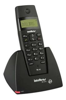 Telefone Sem Fio Digital Ts 40 Id Intelbras Preto