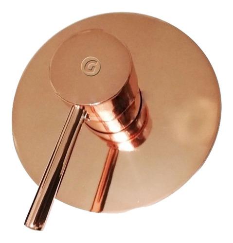 Mezclador Monocontrol Circular Para Ducha Cobre Gold