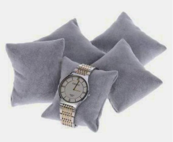 Kit 18 Almofada Relógio Em Tecido Suede Cinza 8x8