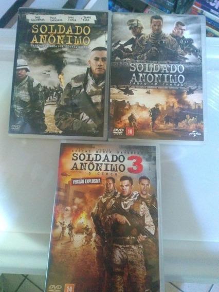Soldado Anônimo 1 2 E 3 Dvd Original Usado