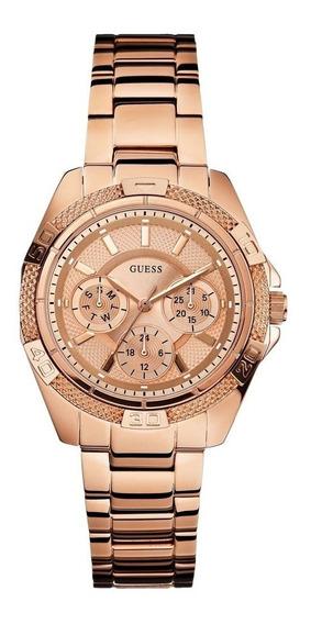 Reloj Guess Mini Phantom W0235l3 Oro Rosa Original Para Dama