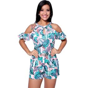 e2ea542db Macacão Manga Curta para Feminino em Amazonas no Mercado Livre Brasil