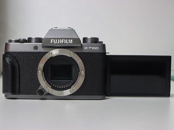 Câmera Fujifilm X-t100 - Silver Dark (somente Corpo)