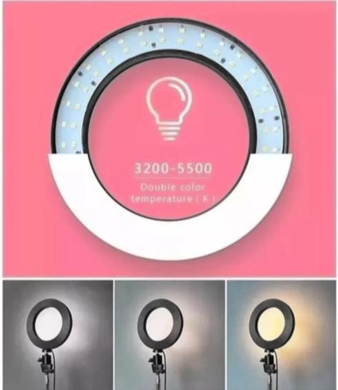 Ring Light Maquiagem Profissional + Tripé Articulado 1,60mt
