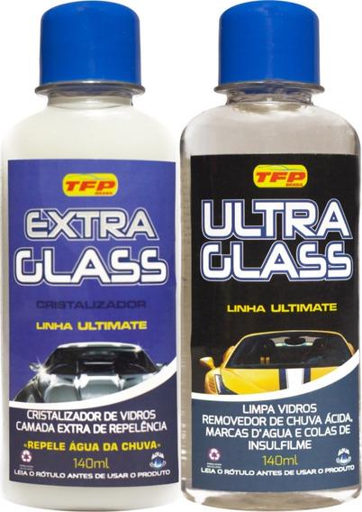Kit Removedor De Chuva Acida E Cristalizador De Vidro - Promoção 10% Off -ultra Glass Tira Mancha Acida Vidro