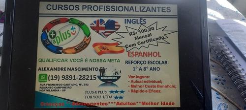 Imagem 1 de 1 de Curso Completo Inglês Ou Espanhol R$100,00 Por Mês