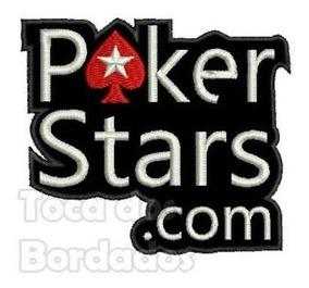 Patch Bordado Termocolant Logo Poker Stars.com 7,5x9cm Gms10