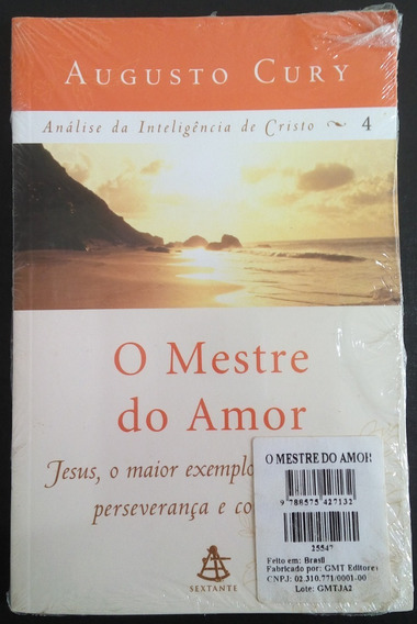 Livro - O Mestre Do Amor - Augusto Cury