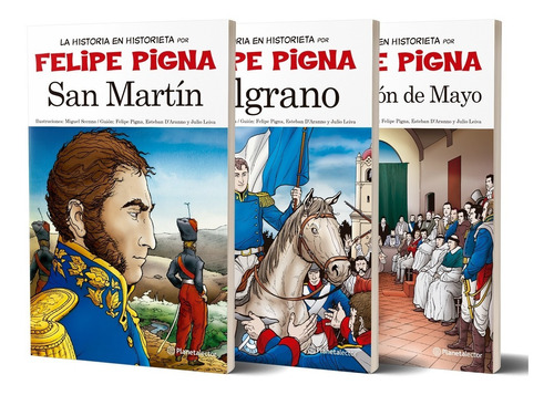 Imagen 1 de 3 de Pack La Historieta Argentina Planetalector De Felipe Pigna