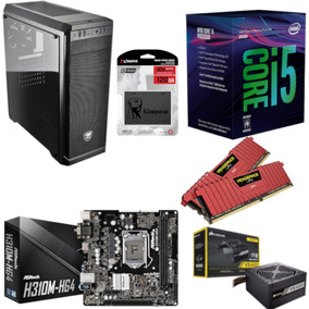Pc Cougar Intel I5 8400 Mb H310m Hg4 Vg 16gb Vs400 Ssd 120gb