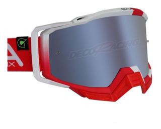 Óculos Gaia Mx Pro Special Red Lente Mirror Silver