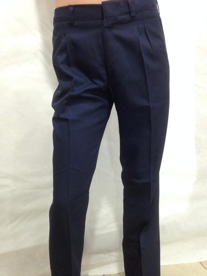 Pantalon Orca Colegial Gabardina Azul Adulto
