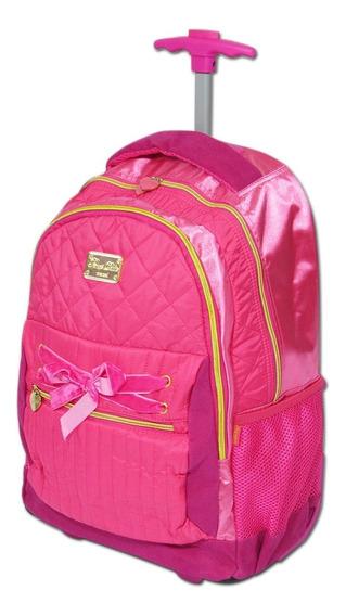 Mochila Casual Tipo Mala Viagem Bordo Notebook Fuseco Pink