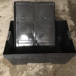 Caja De Plástico Limpia, Con Tapa, Medidas De 60 X 40 X 28