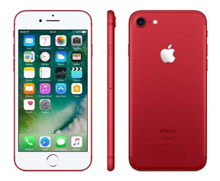 iPhone 7 32gb Red + Capa E Película Na Caixa Apple