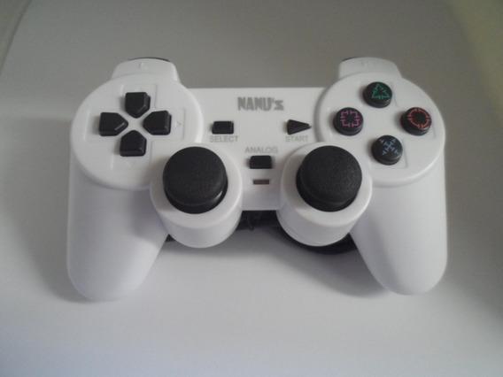 Controle Analógico Para Playstation 1 Ps One Fat Slim Branco