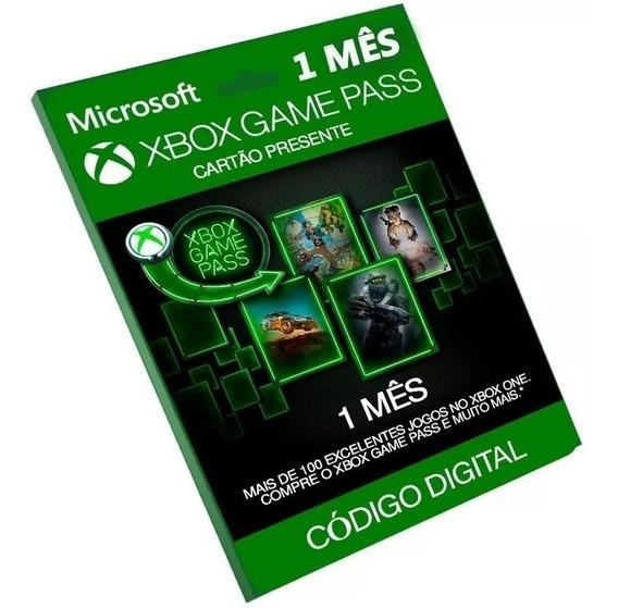 Cartão Game Pass Xbox Original Br 1 Mês (30 Dias)