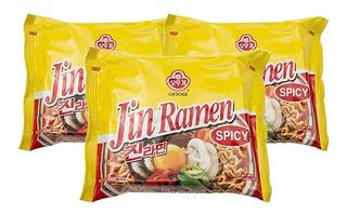 Pack 24u Jin Ramen 120 Gr Maruchan Sopa Fideos Coreana