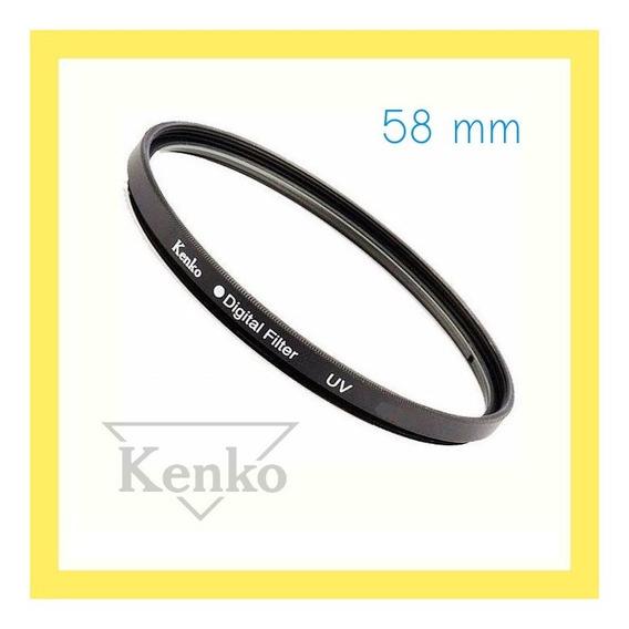 T6i - Filtro Lente 58mm Uv Kenko Compativel C/ Camera Canon