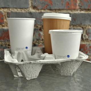 Charola Porta Vasos Biodegradable 20 Pz