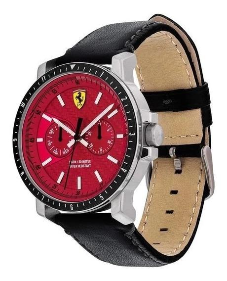 Nuevo- Reloj Ferrari Modelo 830449, Color Rojo 42mm