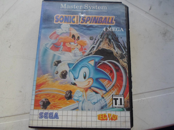 Sonic Spinball Original Na Caixa Para Master System