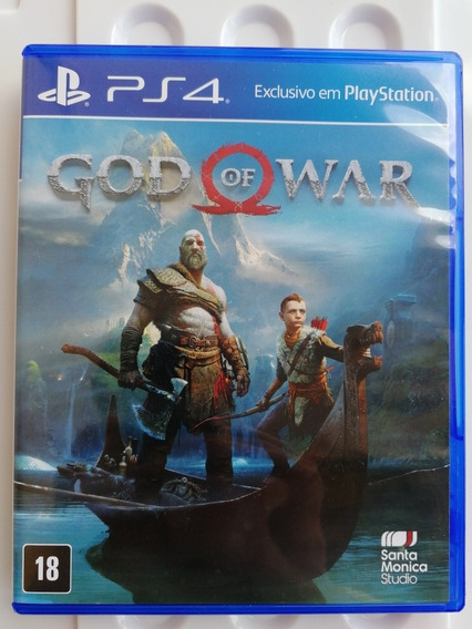 Game God Of War 4 Mídia Física Ps4 Estado De Novo!
